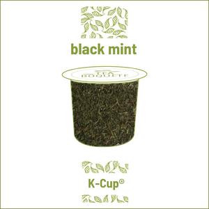 Black peppermint tea  pods for Keurig brewers K-Cup compatible capsules