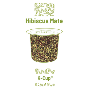 Hibiscus mate blend herbal tea  pods for Keurig brewers K-Cup compatible capsules