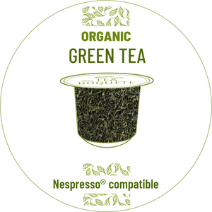 Organic Green tea pods for nespresso brewers originalline compatible
