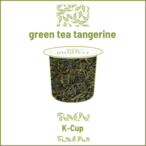 Tangerine Green tea  pods for Keurig brewers K-Cup compatible capsules