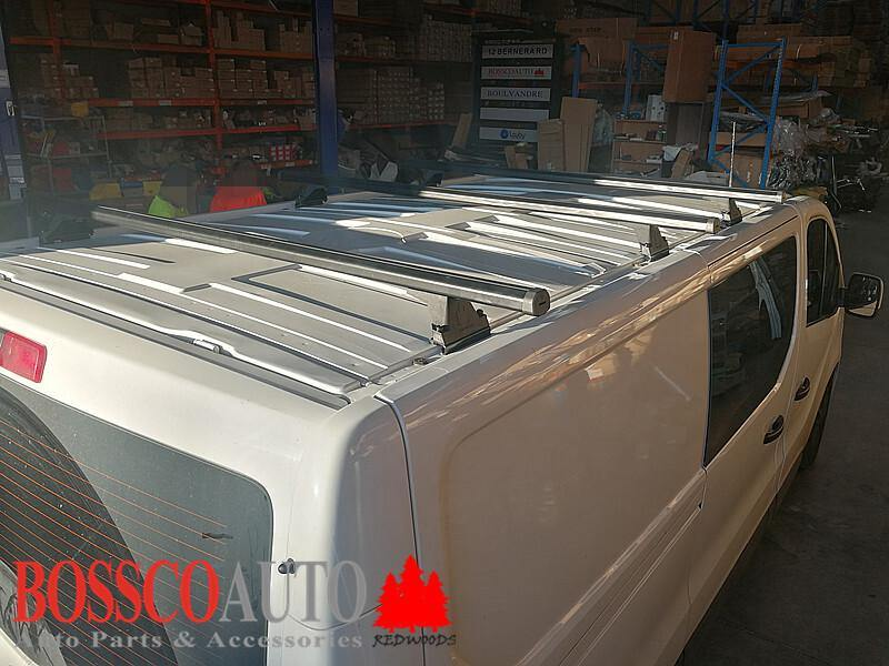 Set of 4 Black Heavy Duty Roof Racks Renault Trafic X82 Van 2017-20 - Vehicle Safe