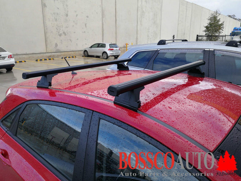 Black Heavy Duty Roof Racks suitable for Hyundai i30 Hatch 2008-2014 - Vehicle Safe