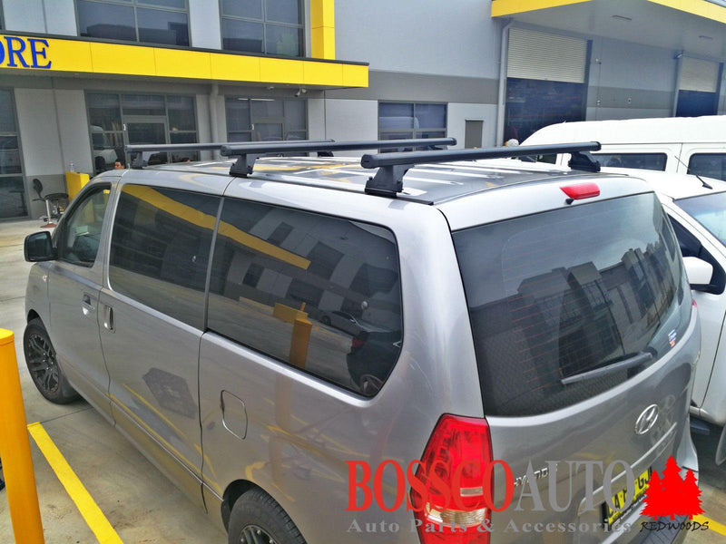 Set of 3 Heavy Duty Roof Racks suitable for Hyundai iLoad 2007-2020 - Vehicle Safe