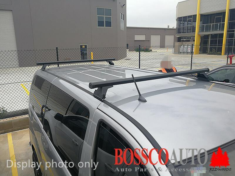 Black Heavy Duty Roof Racks suitable for Hyundai iMax 2007-2020 (2 bars) - Vehicle Safe