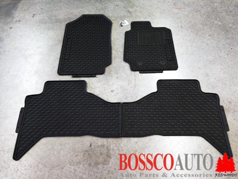 All Weather Rubber Floor Mats suitable for Ford Ranger Double Cab 2012-2020 - Vehicle Safe