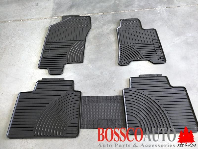 All Weather Rubber Floor Mats suitable for Nissan Navara Double Cab 2015-2020 - Vehicle Safe