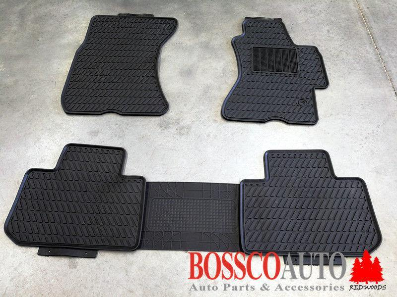 All Weather Rubber Floor Mats suitable for SUBARU FORESTER S4 2012-2018 - Vehicle Safe