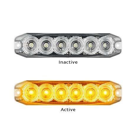 LED Autolamp Strobe Warning Light - 6 LED Slim Design | Super Bright | 3 Year Warranty - Vehicle Safe