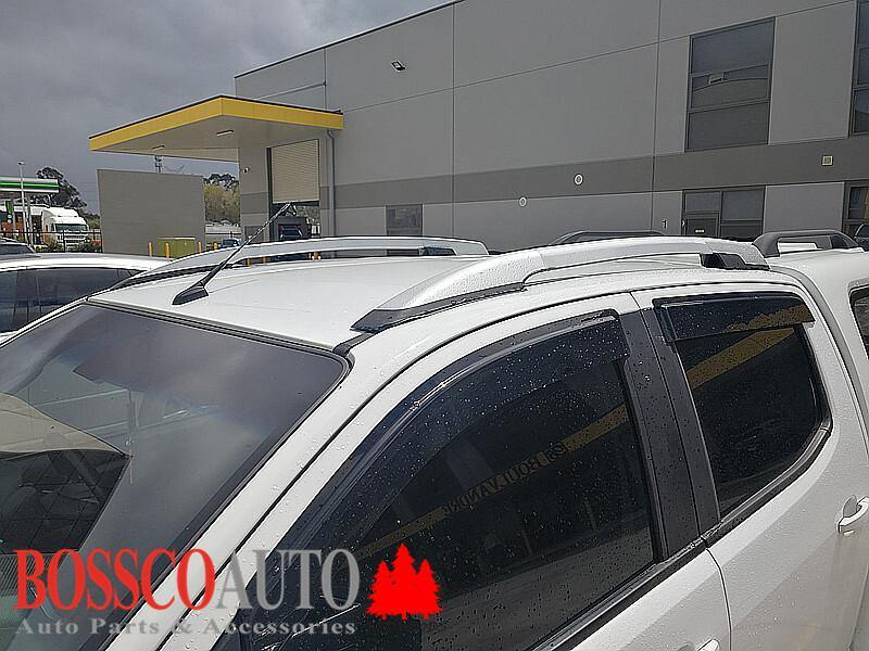 Silver and Black Roof Rails Suitable For Holden Colorado 2012-2020 - Vehicle Safe