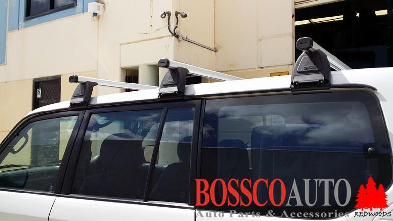 Heavy Duty Silver ROOF RACKS suitable for Toyota Prado 1995- 2002 - Vehicle Safe