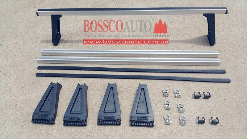 Silver Heavy Duty ROOF RACKS suitable for Landrover Defender - Vehicle Safe