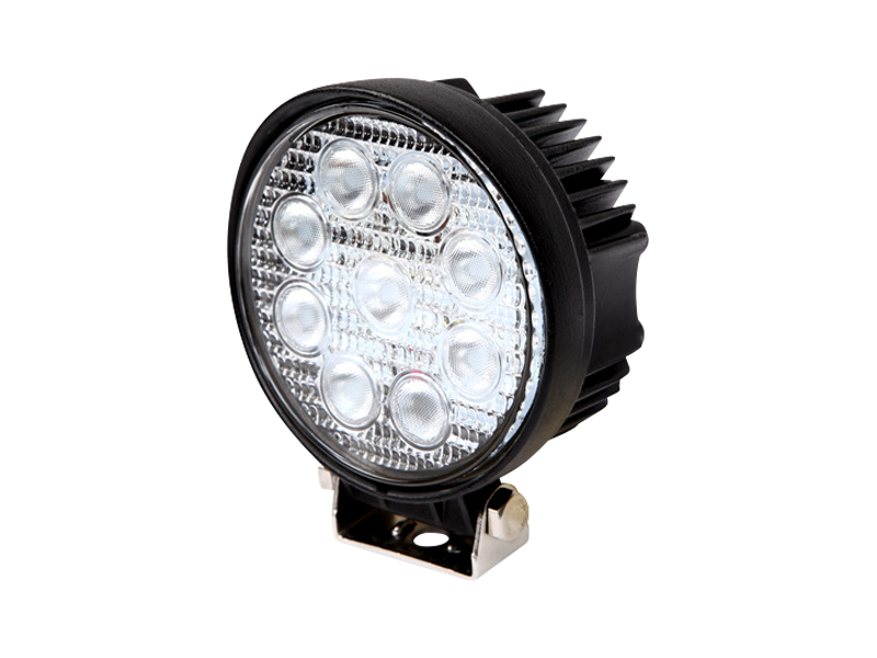 LED Work Light Round 27W - Flood - Vehicle Safe