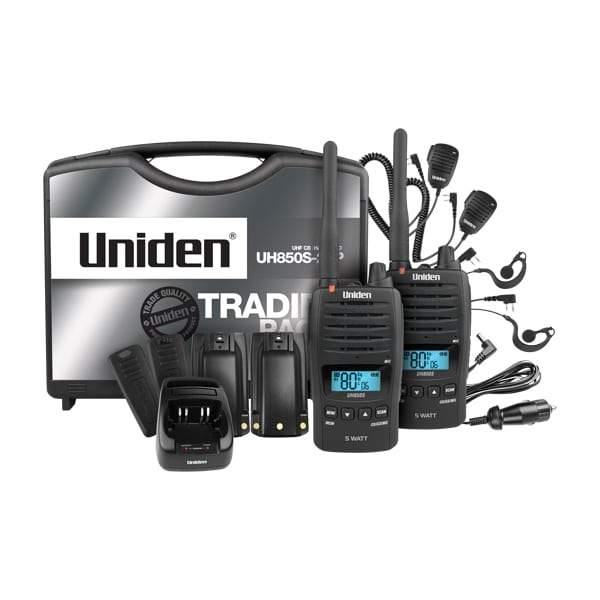 Uniden Handheld UHF Radio Tradie Kit - UH850S-2TP - Vehicle Safe