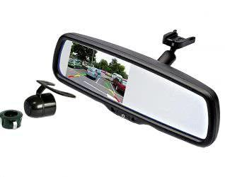 Mongoose Mirror Mounted Screen & Reverse Camera Kit - MCK43T2 - Vehicle Safe