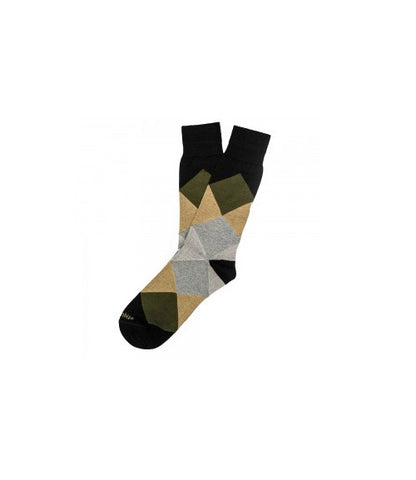 Etiquette Harlequin Black Socks
