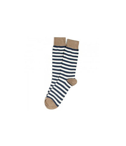 Etiquette Abbey Stripes Navy Socks