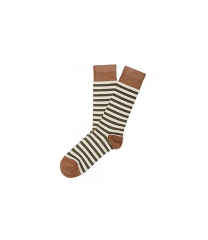 Etiquette Abbey Stripes Green Socks