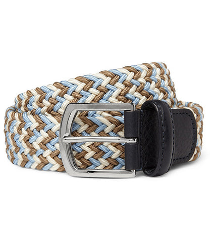 Anderson's Stretch Woven Belt Light Blue Multicolor