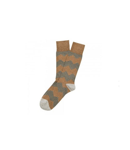 Etiquette Everest Stripes Olive Socks