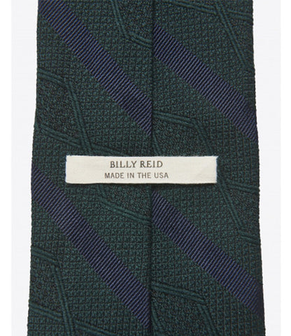 Billy Reid Zig-Zag Stripe Tie Green