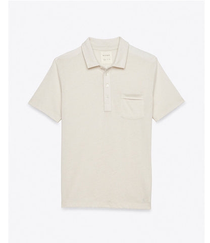 Billy Reid Pensacola Polo Cream