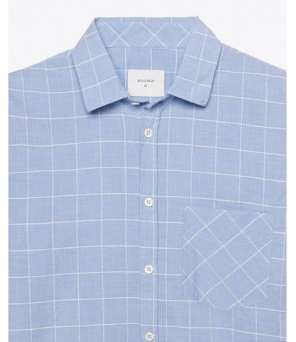 Billy Reid Kirby Shirt Blue Plaid