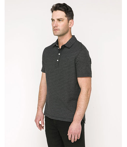 Billy Reid Miles Polo Black