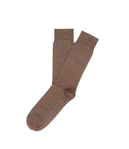 Etiquette Ball Point Brown Socks