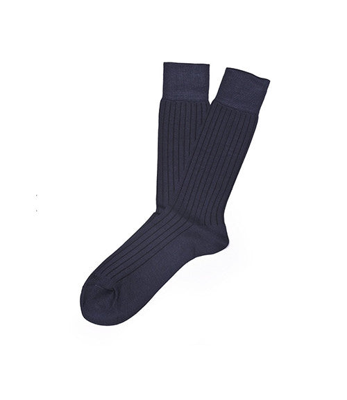 Etiquette Royal Rib Navy Socks