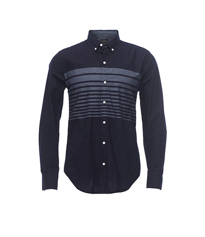 Jachs NY Indigo Jaspe Engineered Madison Shirt