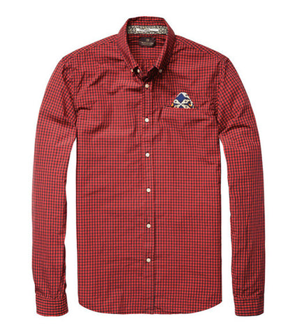 Scotch & Soda Denim Check Shirt