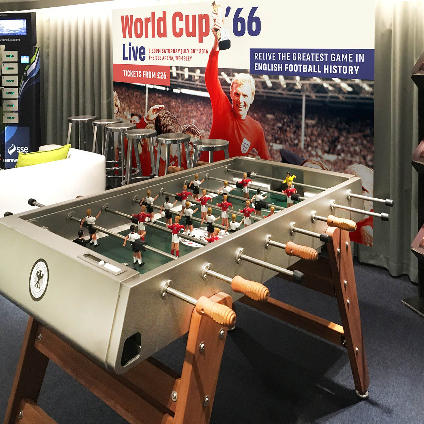 Our stunning 1966 table debuts at Wembley!