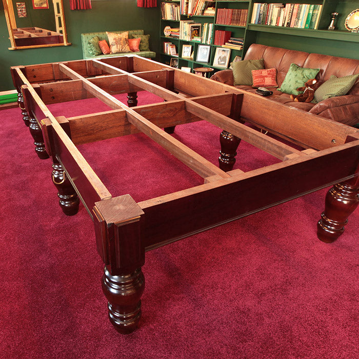 The art of assembling a full-sized snooker table
