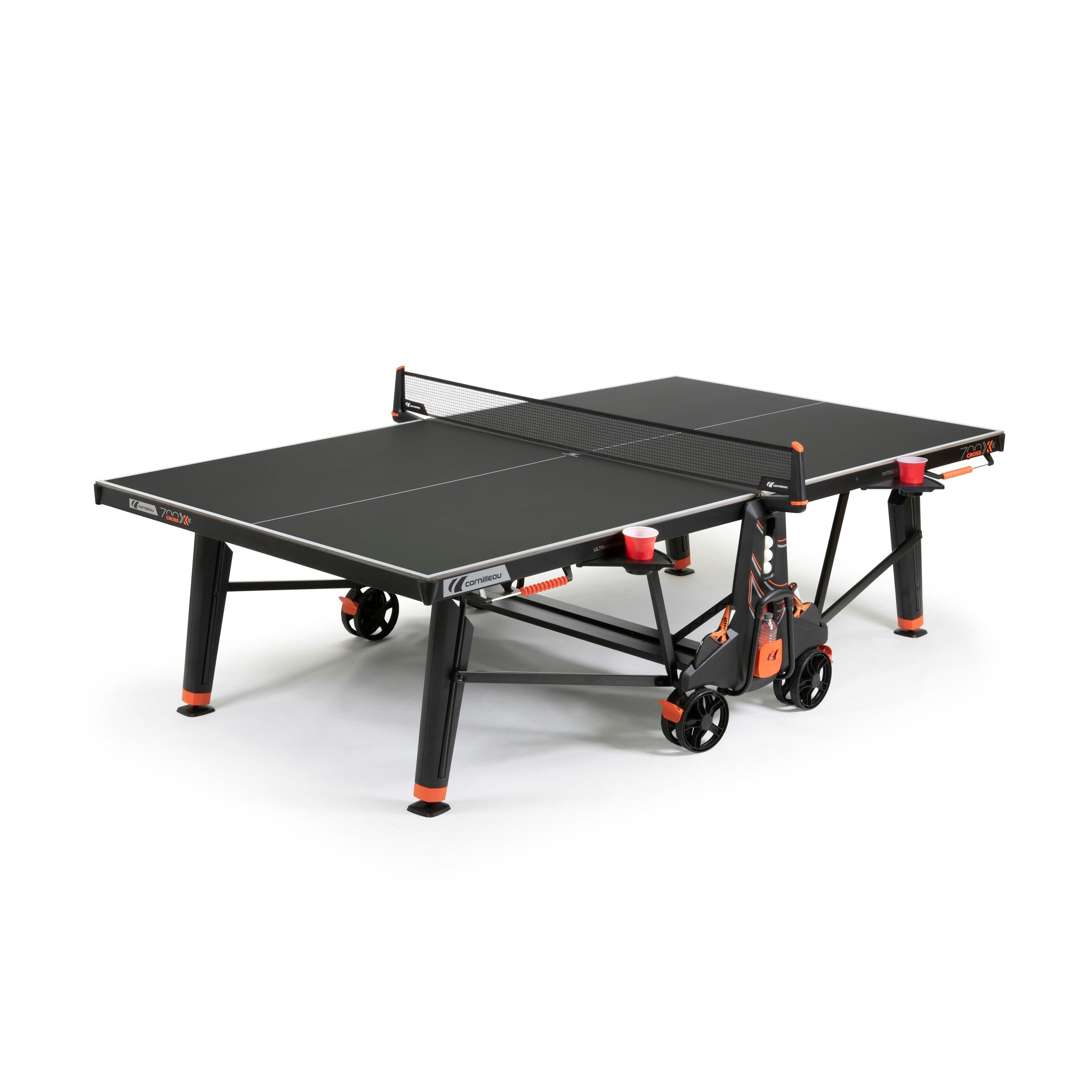 Cornilleau Sport 700X Outdoor Rollaway Table Tennis in Black