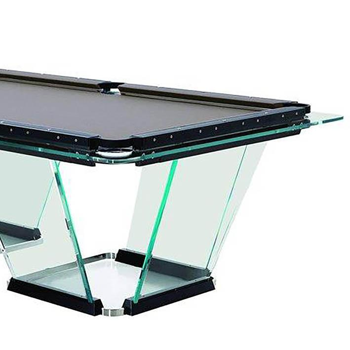 Teckell T1 Glass Pool Table 8ft, 9ft