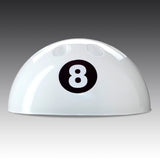 8-ball Cue Rack in white
