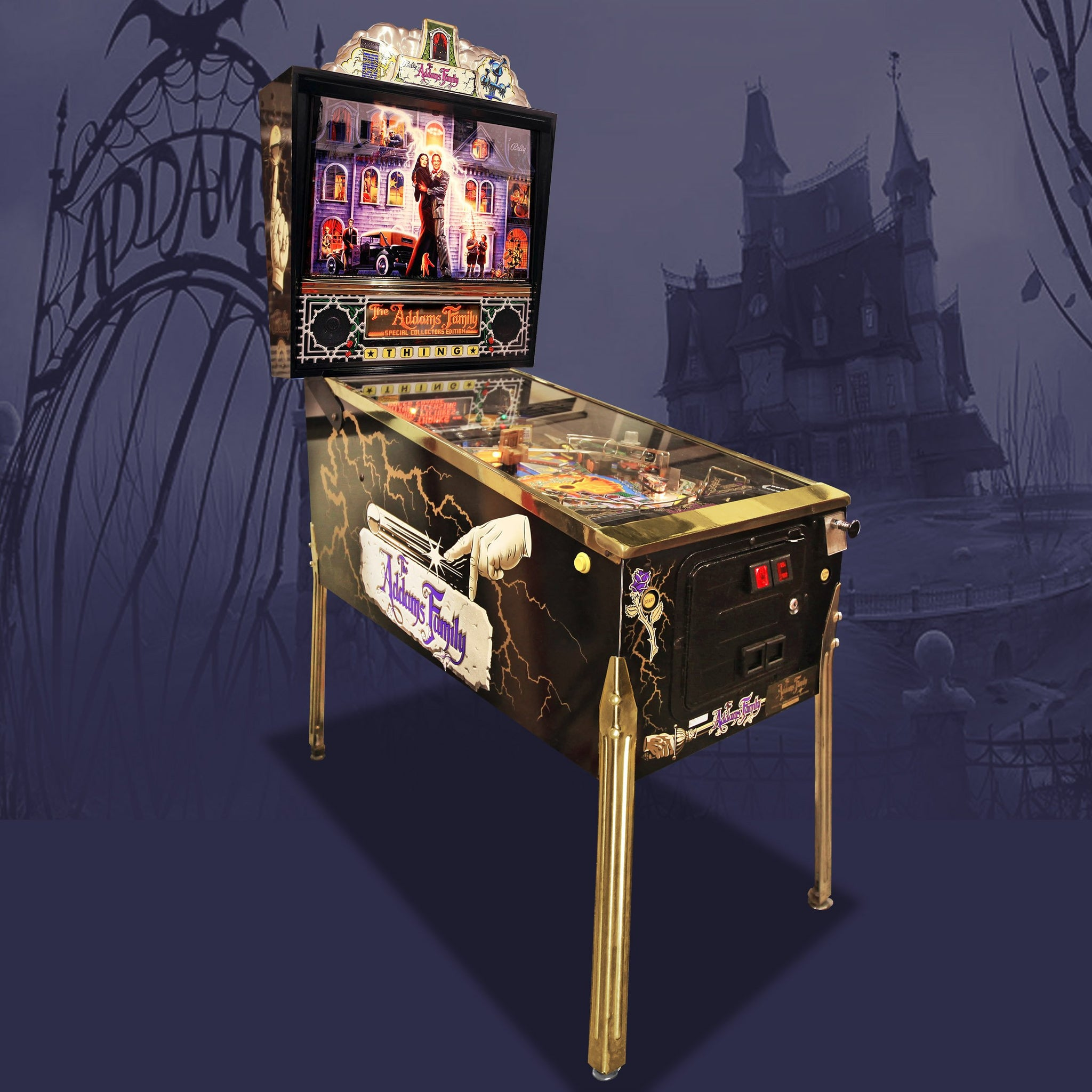 1994 The Addams Family Gold Pinball Machine by Bally