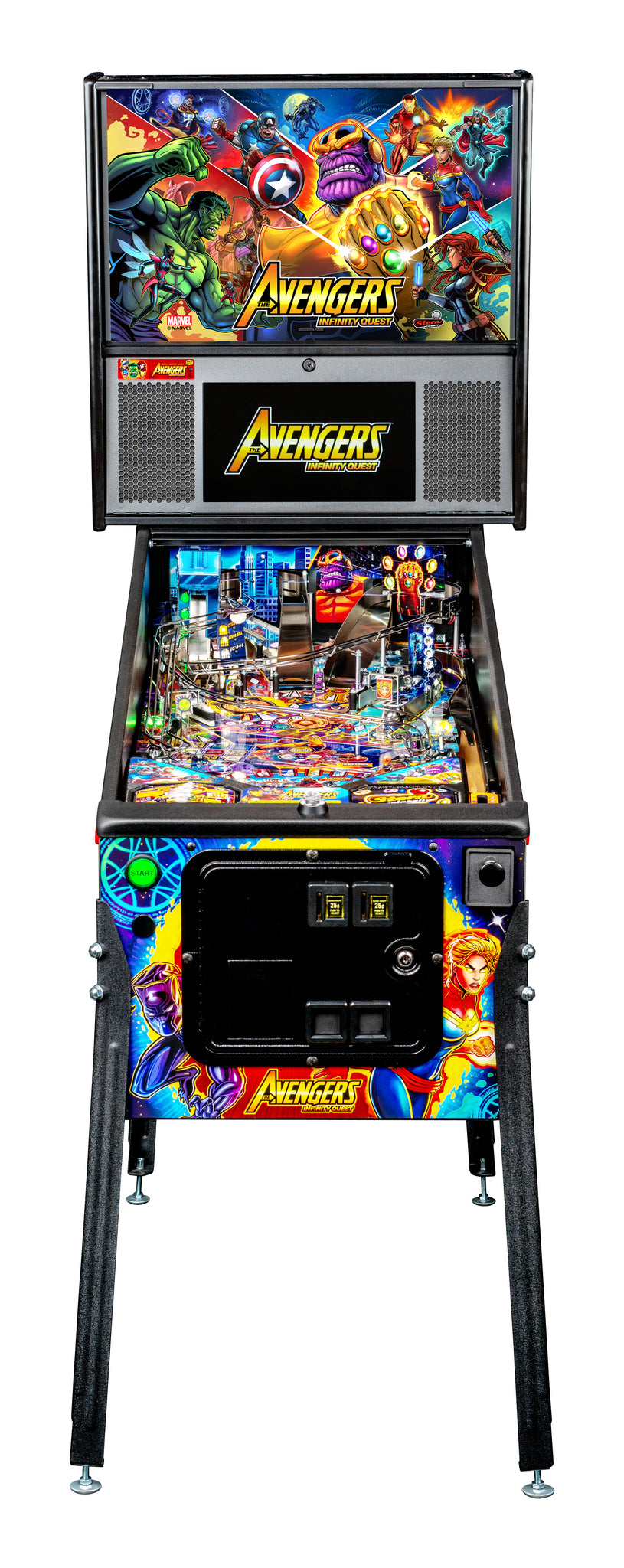 Avengers Infinity Quest Pro Pinball Machine by Stern