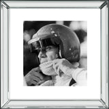 Steve McQueen Racing Mirror Frame Picture