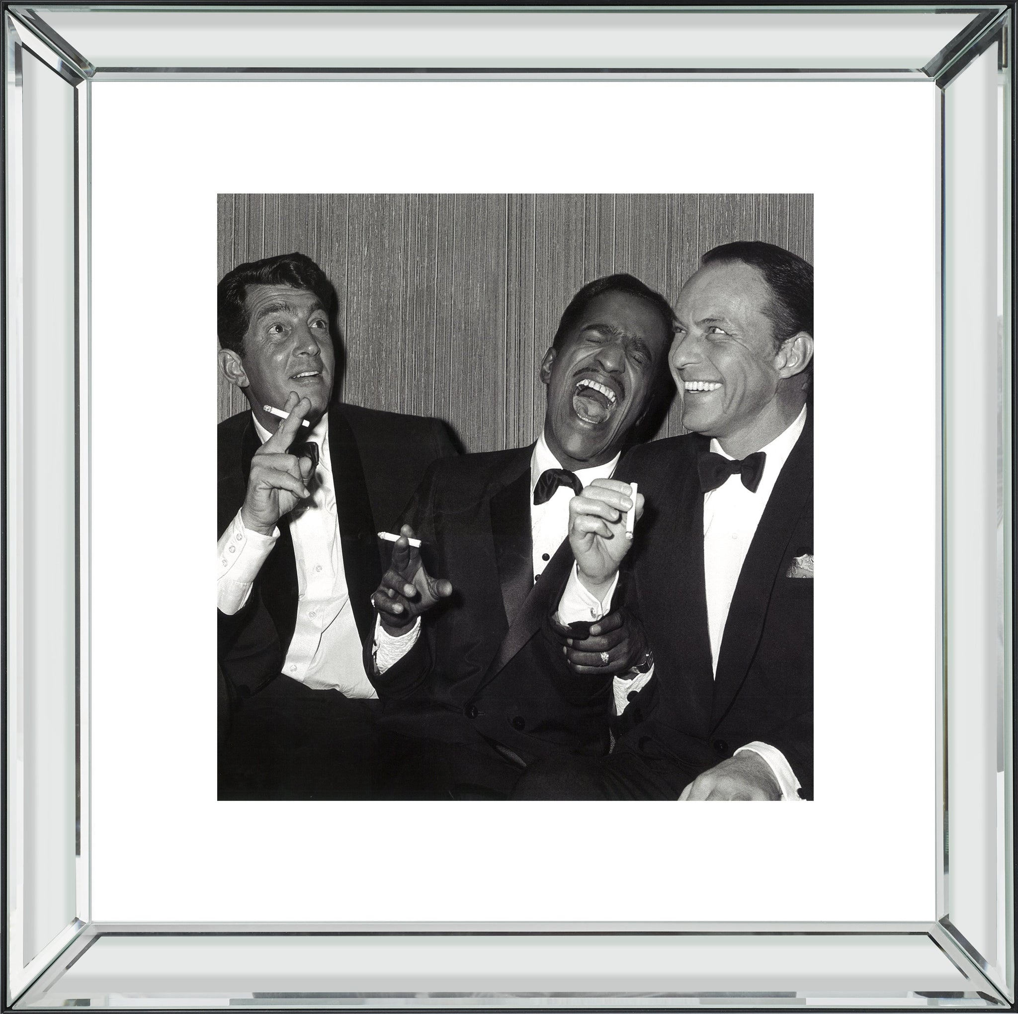 The Rat Pack Mirror Frame Picture