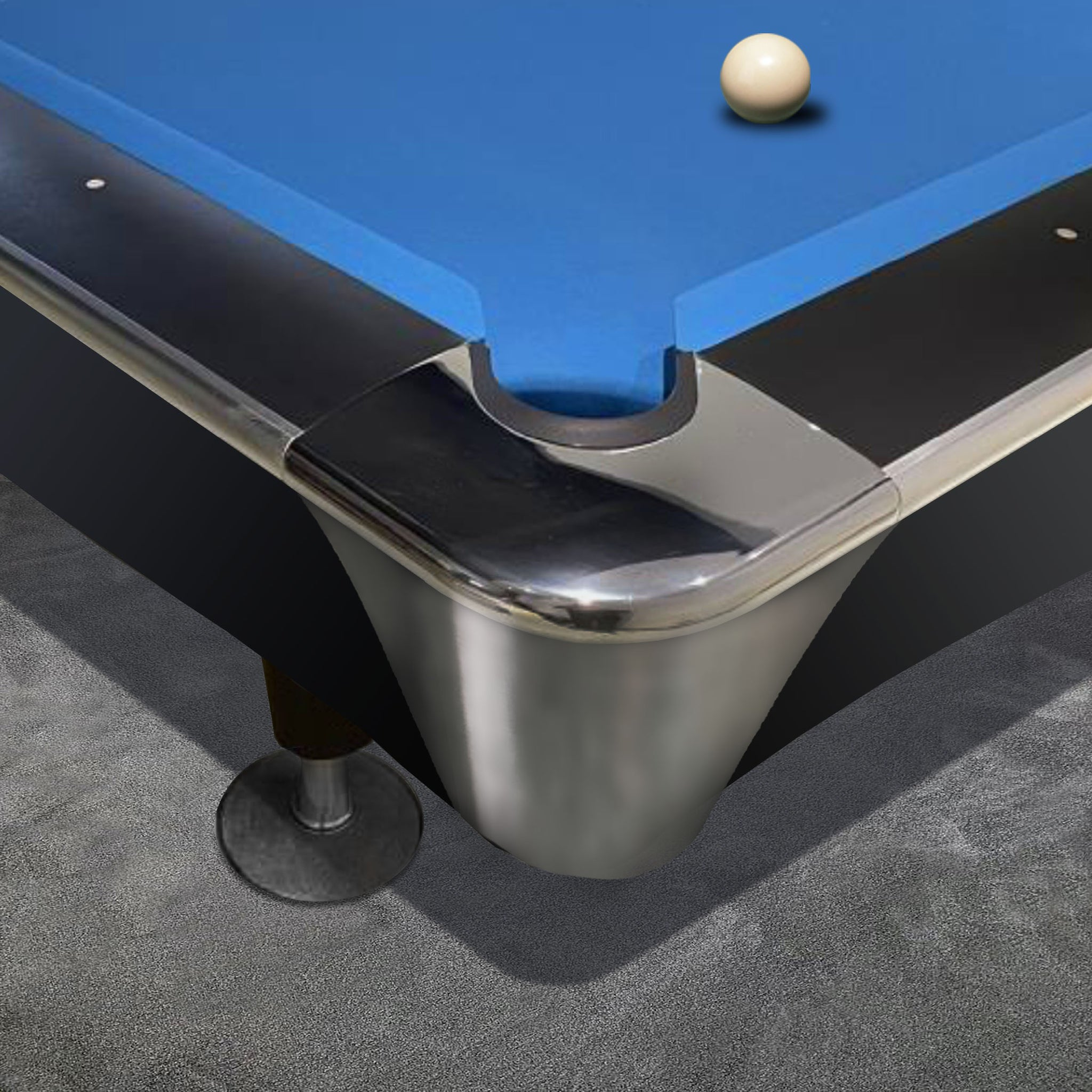 Tournament Professional 8ft American Pool Table Black Finish