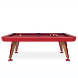 Diagonal American Pool Table in Red 7ft, 8ft
