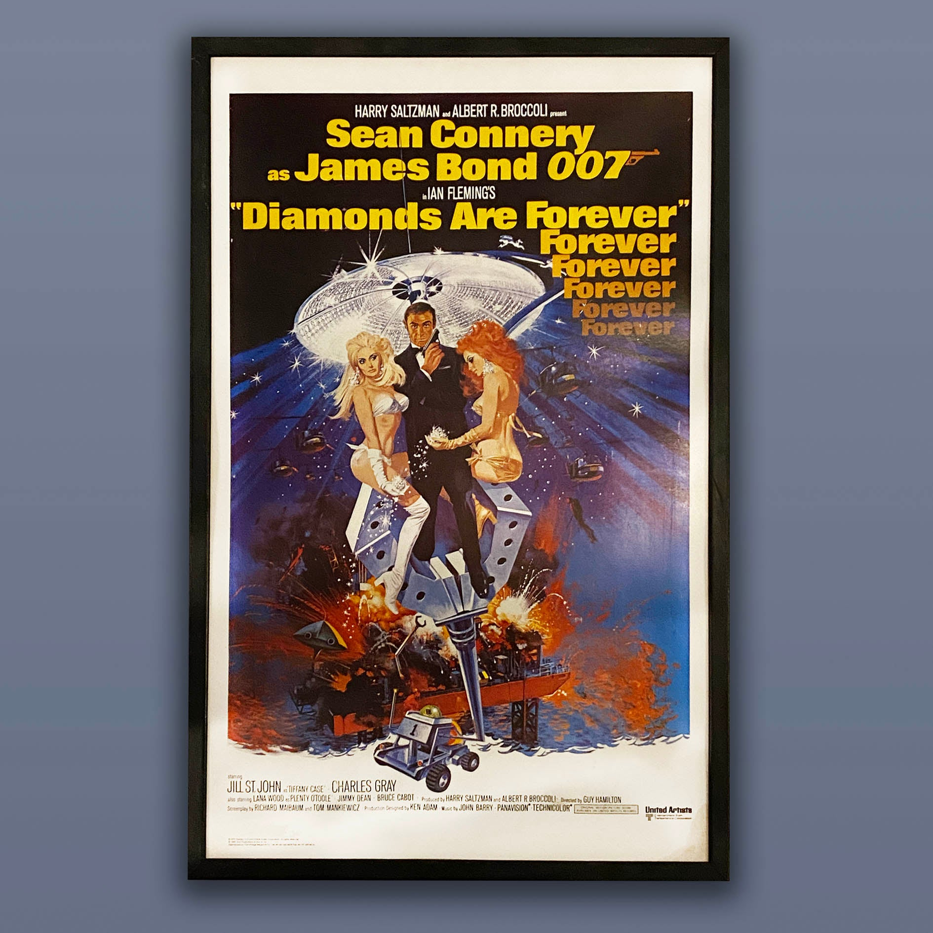 Diamonds are Forever framed promotional film board