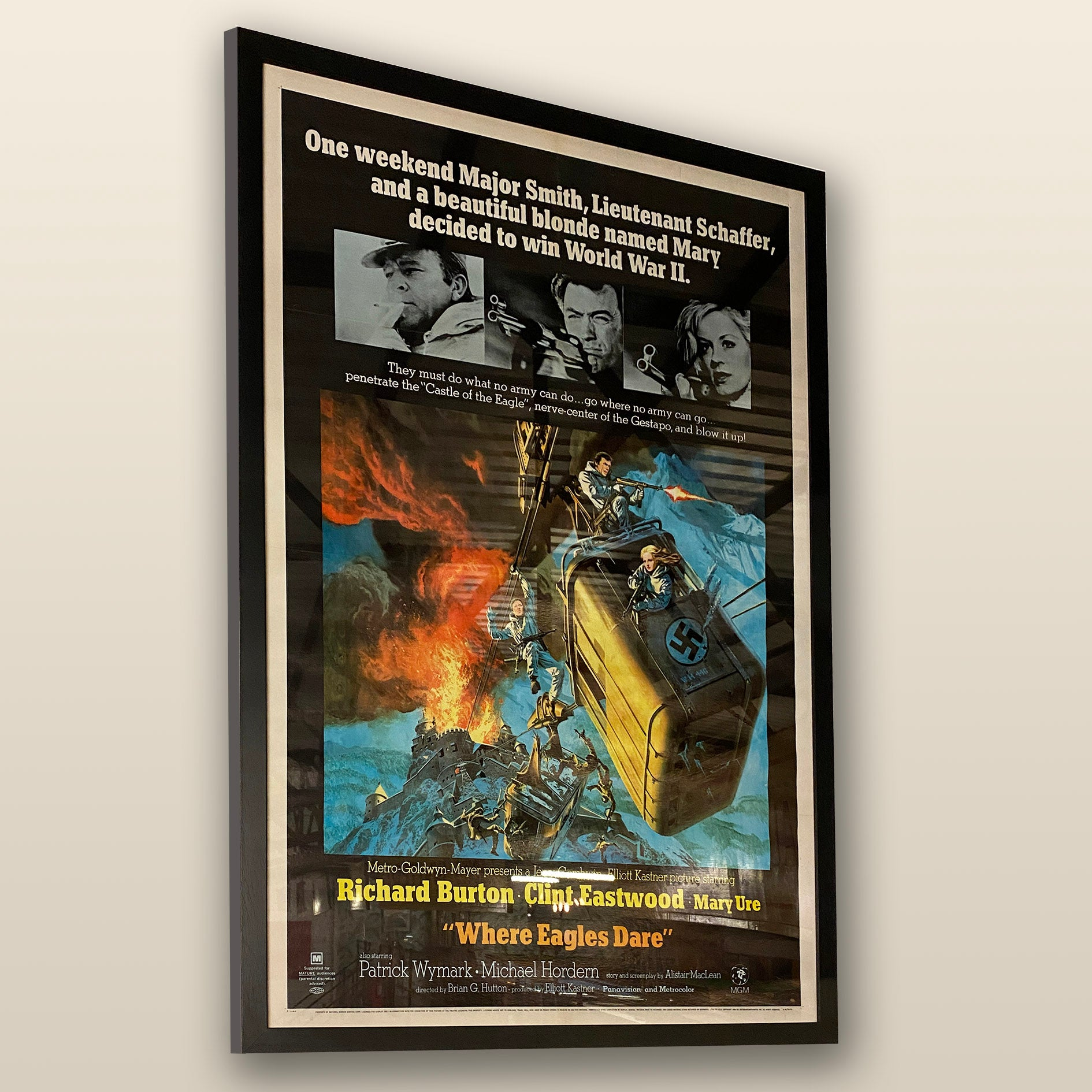 Where Eagles Dare framed Film Poster
