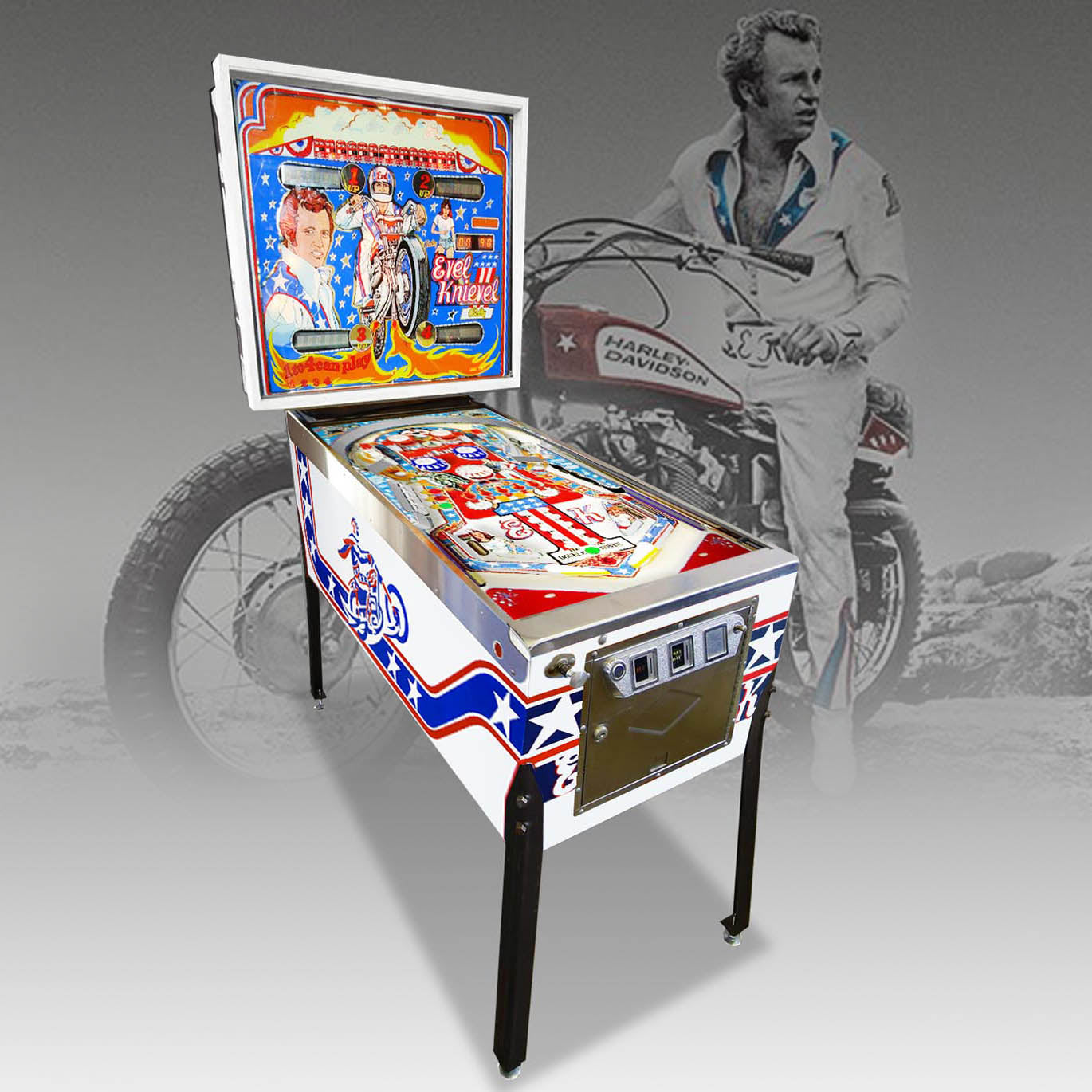 1977 Evel Knievel Pinball Machine by Bally