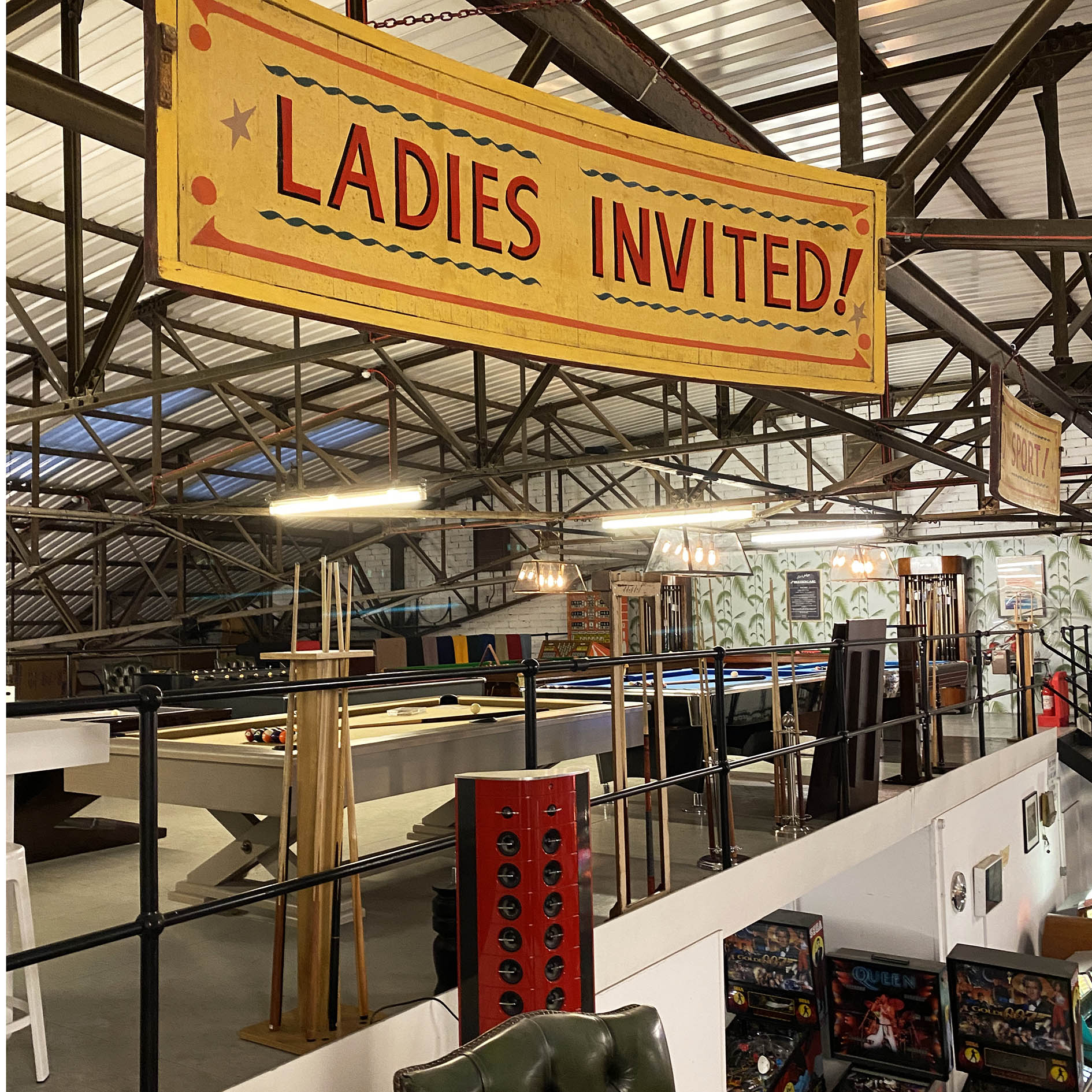 Ladies Invited! 1930s Vintage Fairground Sign