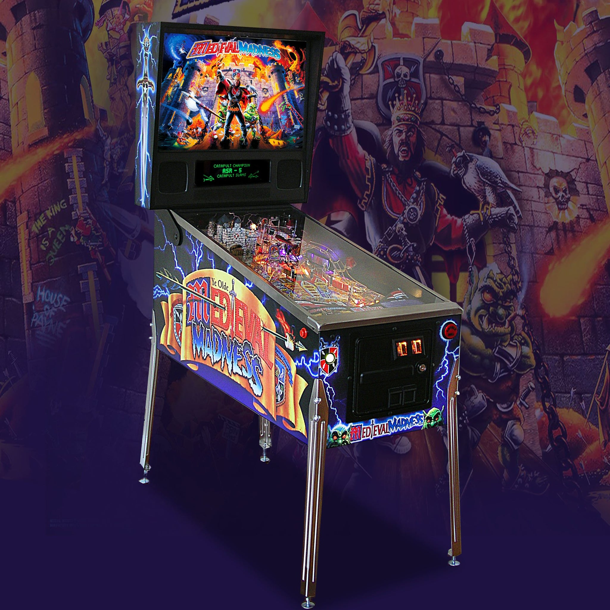 1997 Medieval Madness Pinball 'Coming Soon' by Williams
