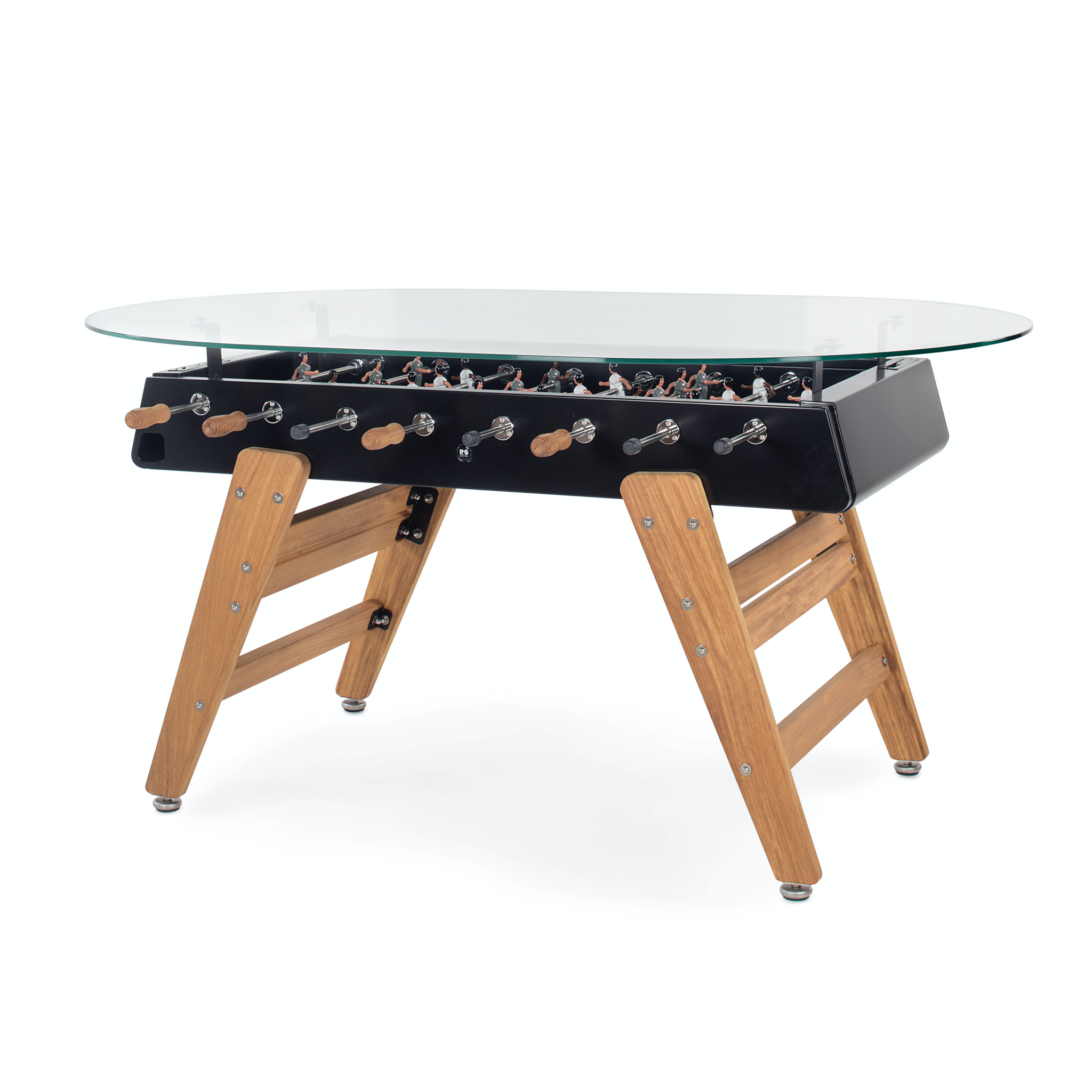 RS3 Wood Dining Oval Foosball Table in Black