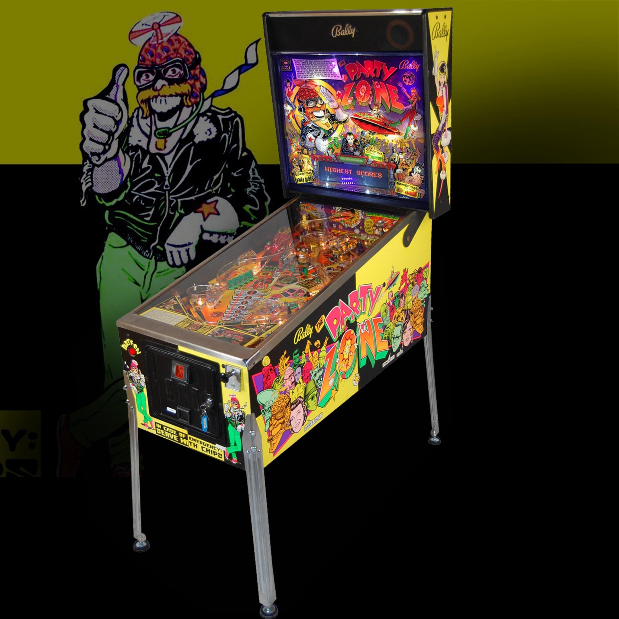 1991 Party Zone Pinball Machine by Bally