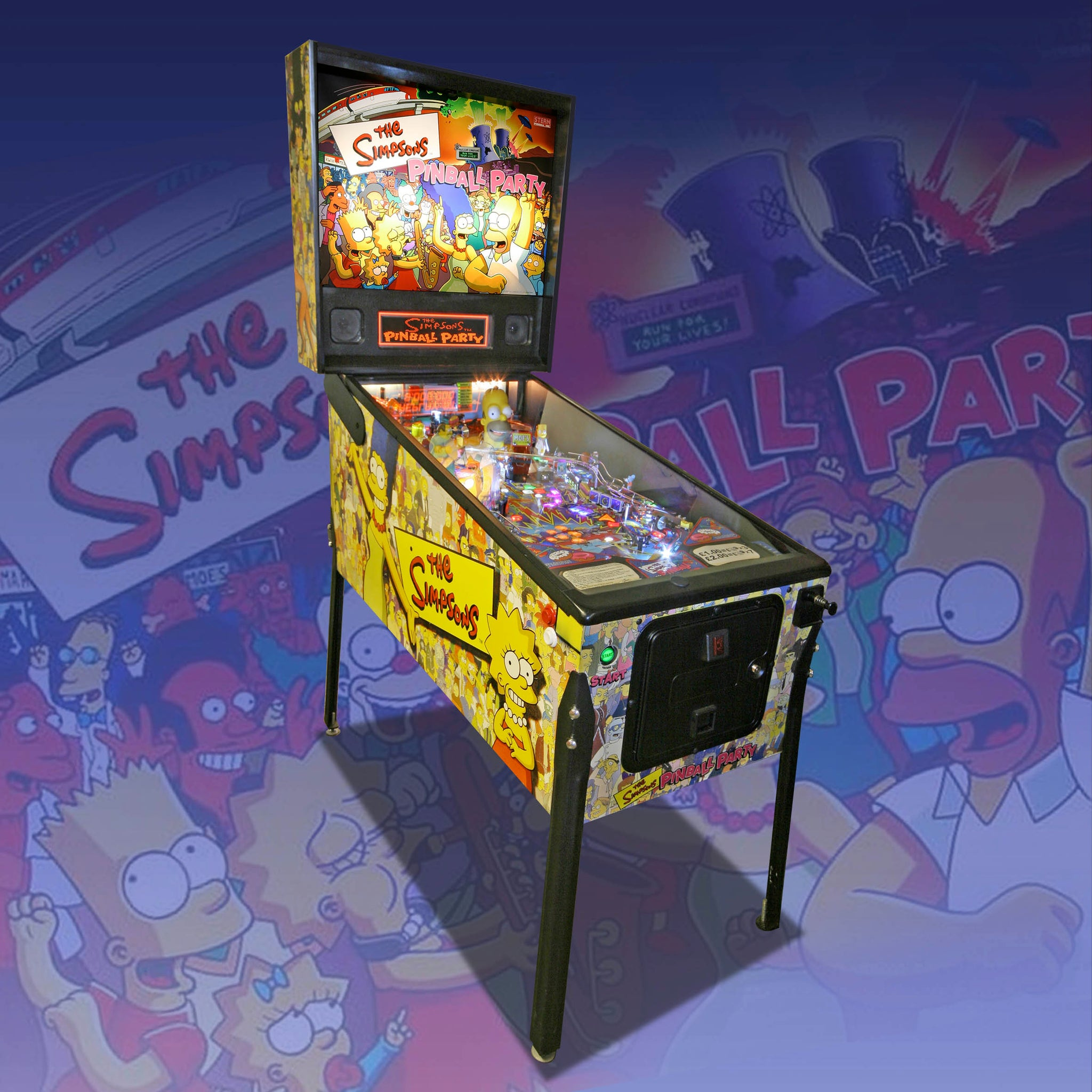 The Simpsons Party Pinball by Stern